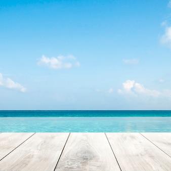 Fondo de producto de verano, fondo de mar azul
