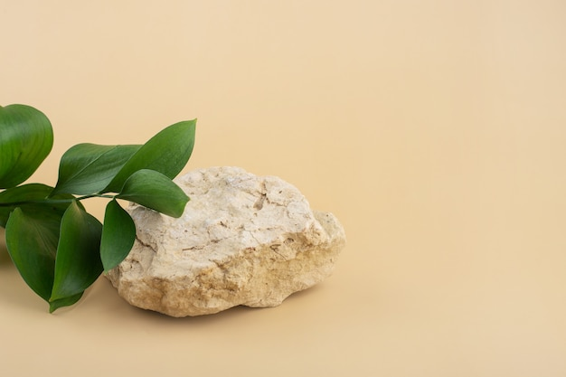 Fondo para productos cosméticos de color beige natural