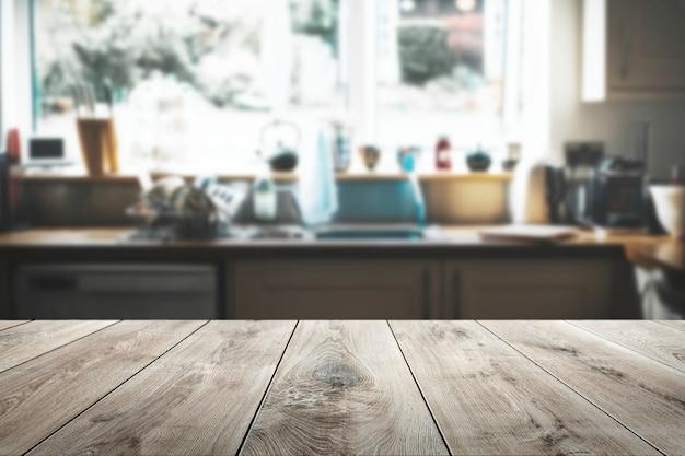 Fondo de productos de mesa de madera.
