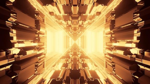 Fondo psicodélico abstracto vivo con colores dorado y marrón