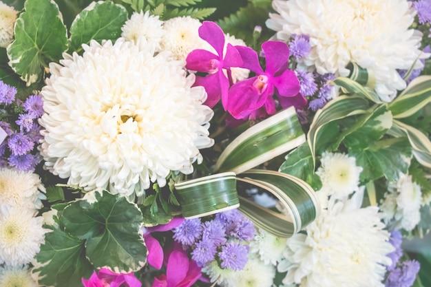 Fondo de ramo de flores en flor