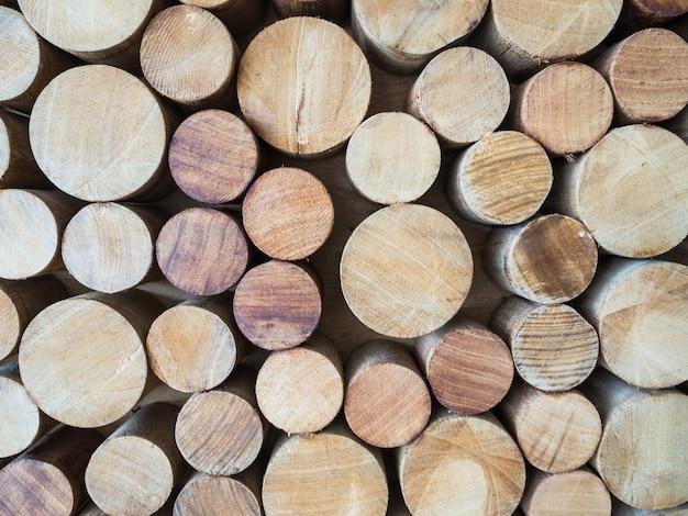 Fondo redondo del tocón de madera de la teca
