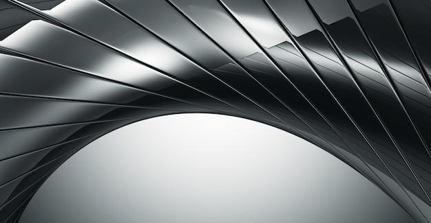 Fondo reflectante negro abstracto