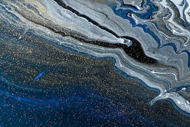 Fondo de remolino de mármol azul abstracto textura fluida arte experimental