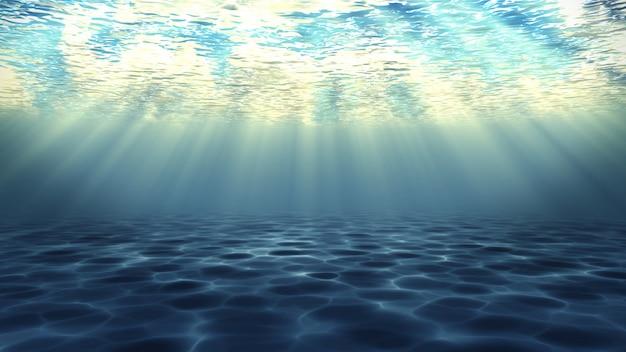 Fondo de render 3d submarino