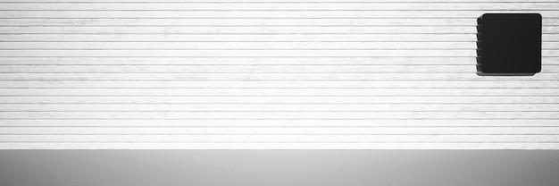 Fondo de renderizado 3d maqueta 3d con espacio de copia fondo blanco y negro