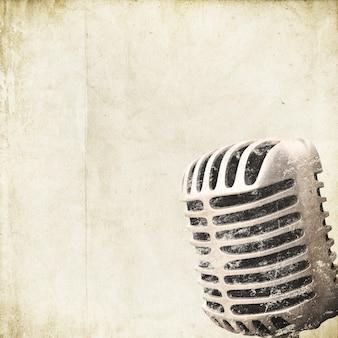 Fondo retro con microfono