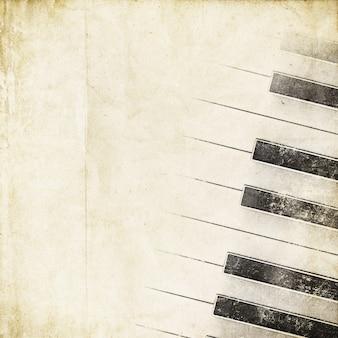 Fondo retro con teclas de piano