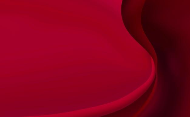 Fondo rojo, abstracción con líneas suaves.