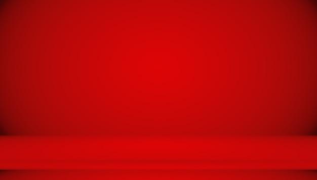 Fondo rojo abstracto diseño de diseño de san valentín de navidad, estudio, sala, plantilla web, informe comercial con color degradado de círculo suave.