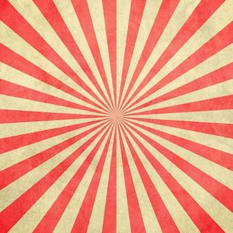 Fondo rojo y blanco del vintage del resplandor solar y del modelo con el espacio.