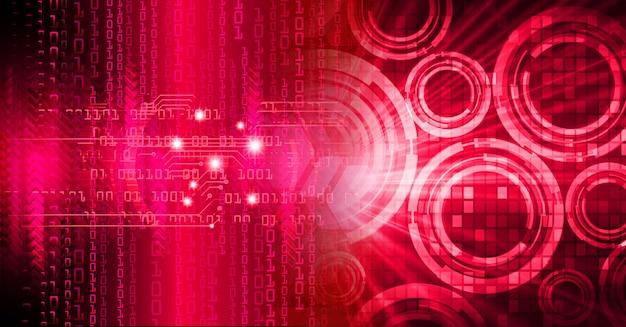 Fondo rojo circuito cibernético