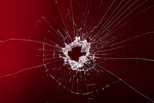 Fondo rojo con efecto cristal roto