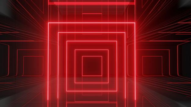 Fondo rojo de luz de neón