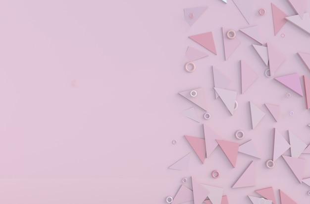 Fondo rosa de amor en el día de san valentín.
