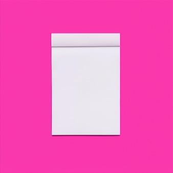 Fondo rosa con el cuaderno