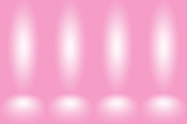 Fondo rosado abstracto diseño de diseño de san valentín de navidad, estudio, sala, plantilla web, informe comercial con color degradado de círculo suave.