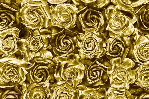 Fondo de rosas doradas