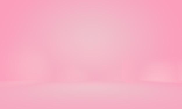 Fondo de sala de estudio rosa claro liso vacío abstracto, uso como montaje para exhibición de productos, banner, plantilla.