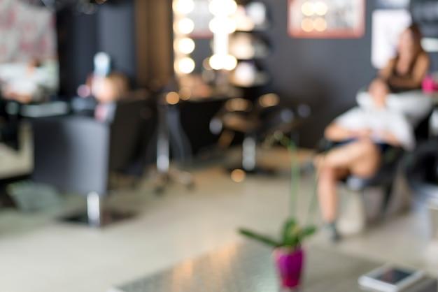 Un fondo de salón de peluquería (concepto de trabajo)