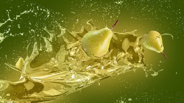 Fondo con salpicadura de zumo de pera