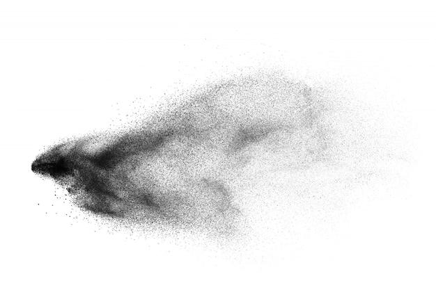 Fondo de salpicaduras de partículas de polvo