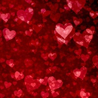 Fondo de san valentín con diseño de corazones