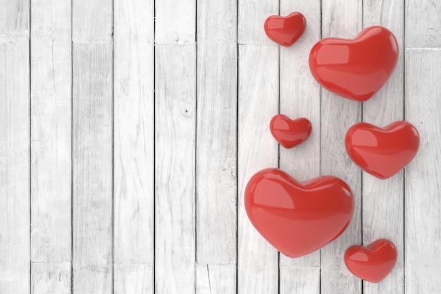 Fondo de san valentín representación 3d