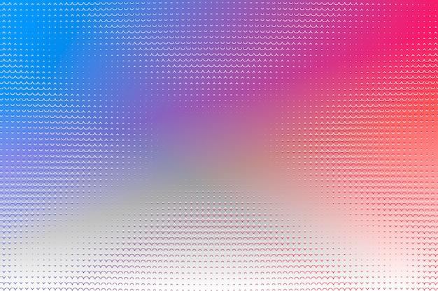 Fondo de semitono rojo azul violeta naranja creativo ilustración con espacio de copia