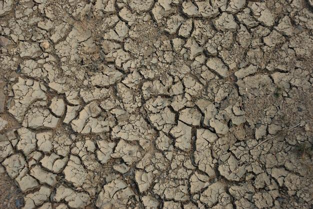Fondo de sequía de tierra desecada