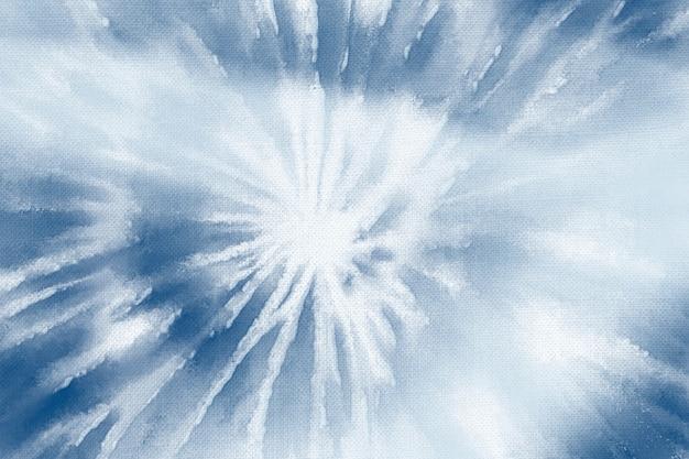 Fondo de shibori con patrón azul índigo