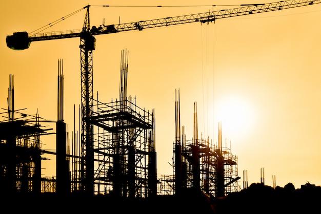 Fondo del sitio de construcción