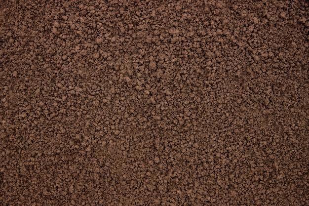 Fondo de suelo fértil, textura de la superficie del suelo, vista superior