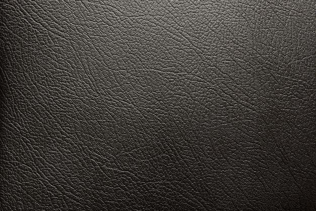Fondo de superficie de textura de cuero negro de lujo