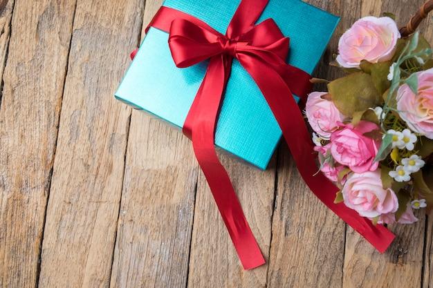 Fondo tabla guita caja navidad vacaciones