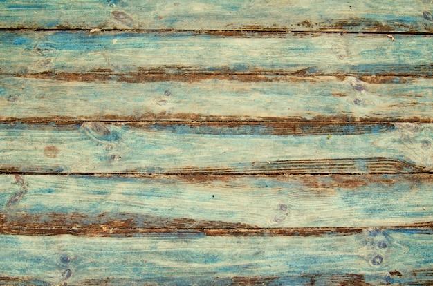 Fondo de tablas de madera pintadas de verde y azul, textura de madera pintada