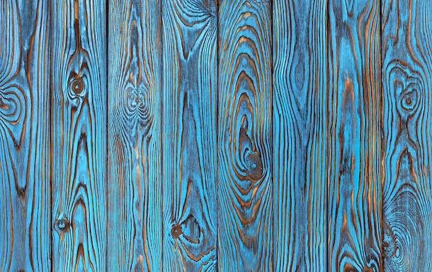 Fondo de tablones de madera azul, textura de madera de color azul viejo y grunge