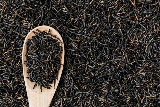 Fondo del té negro