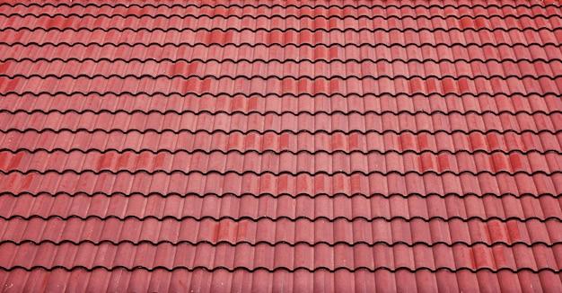 Fondo de techo de tejas rojas
