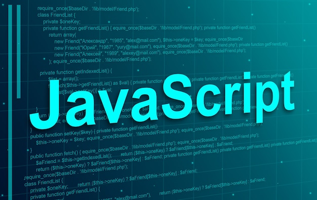 Fondo de tecnología abstracta de código de programación javascript