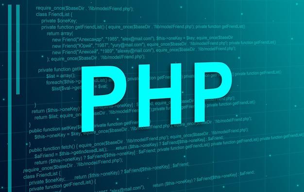 Fondo de tecnología abstracta de código de programación php