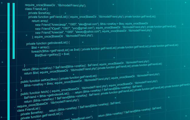 Fondo de tecnología abstracta de código de programación