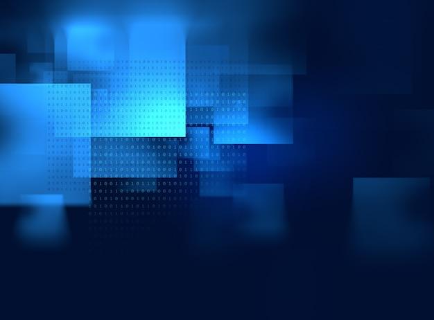 Fondo de tecnología abstracta de forma geométrica azul