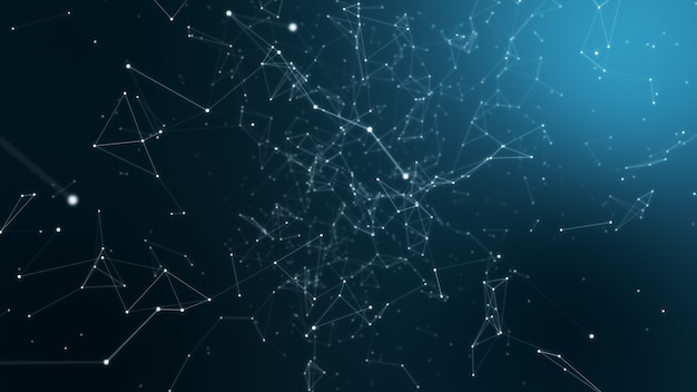 Fondo de tecnología abstracta con puntos conectados