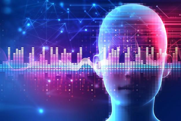 Fondo de tecnología de extracto de forma de onda de audio