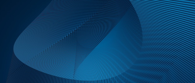 Fondo de tecnología de onda abstracta con concepto corporativo de efecto digital de luz azul ilustración de renderizado 3d