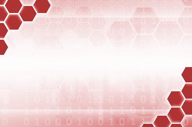 Fondo tecnológico abstracto formado por un conjunto de hexágonos.