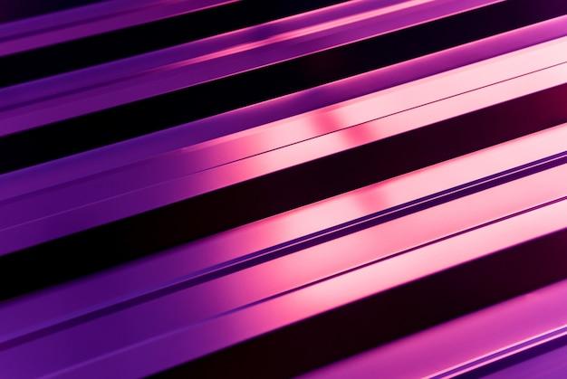 Fondo de tejas metálicas violetas con patrón de luz.