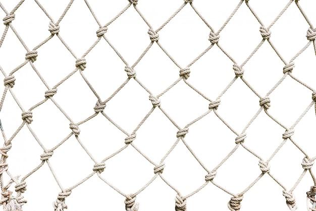 Fondo tejido neta cuerda blanca
