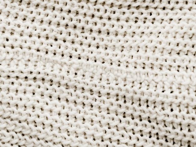 Fondo de tejido de punto blanco